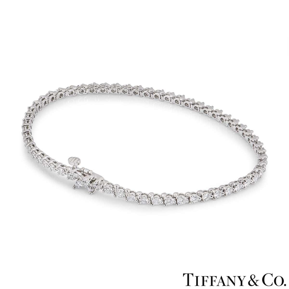 Tiffany & Co. Platinum Diamond Victoria Bracelet